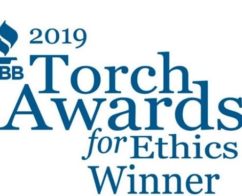 2019 BBB Torch Award for ethics winner logo
