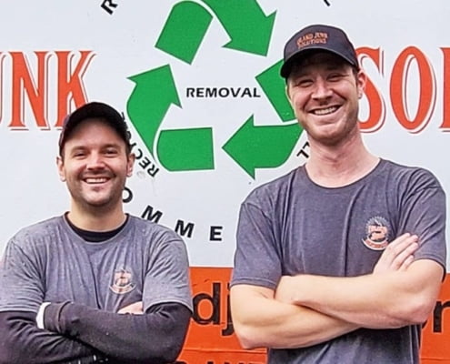 Paul and Wes ar Island Junk Removal Solutions